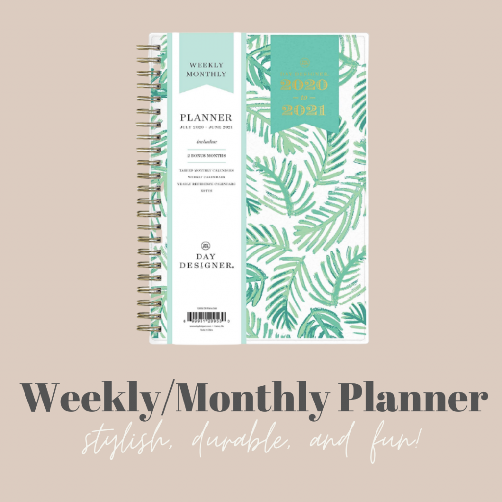Picture of the my weekly/monthly planner