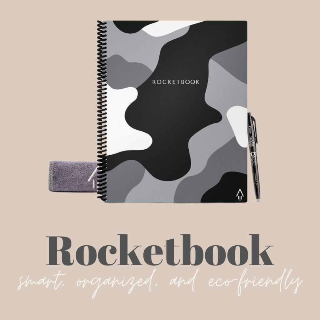 Photo of the Rocketbook reusable notebook